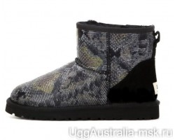 UGG CLASSIC MINI SNAKE DARK BLACK