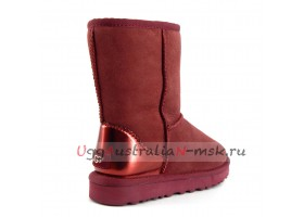UGG CLASSIC SHORT II METALLIC PORT