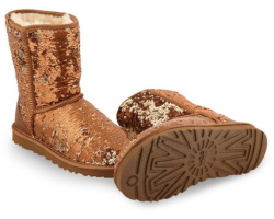 UGG CLASSIC SHORT SPARKLES BROWN