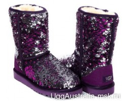UGG CLASSIC SHORT SPARKLES MULTI PURPLE