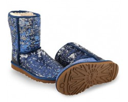 UGG CLASSIC SHORT SPARKLES NAVY