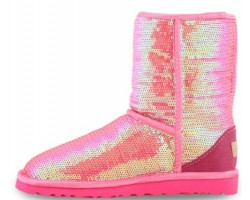 UGG CLASSIC SHORT SPARKLES PINK