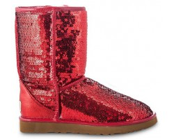 UGG CLASSIC SHORT SPARKLES RED