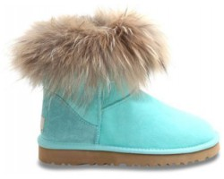 UGG FOX FUR AQUAS
