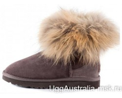 UGG FOX FUR MINI CHOCOLATE
