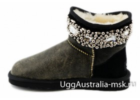 UGG & JIMMY CHOO CRYSTALS BOMBER BLACK