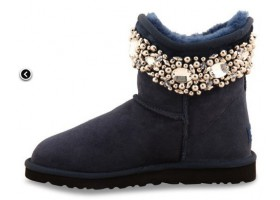 UGG & JIMMY CHOO CRYSTALS NAVY