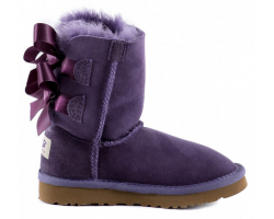 UGG KIDS BAILEY BOW PURPLE