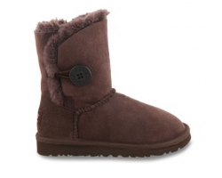 UGG KIDS BAILEY BUTTON CHOCOLATE