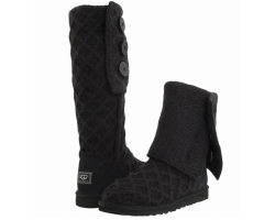 UGG LATTICE CARDY BLACK