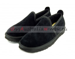 UGG MENS SLIP-ON NEWMAN BLACK