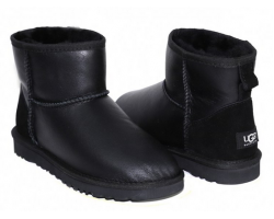 UGG MENS CLASSIC MINI METALLIC BLACK