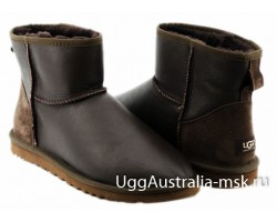UGG MENS CLASSIC MINI METALLIC CHOCOLATE