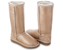 UGG TALL METALLIC SOFT GOLD