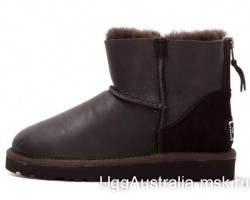 UGG ZIP MINI METALLIC CHOCOLATE
