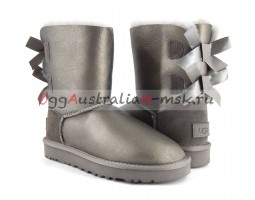 UGG BAILEY BOW II SHORT METALLIC PEWTER