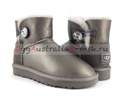 UGG BAILEY BLING MINI II METALLIC PEWTER