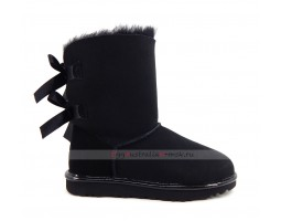 UGG BAILEY BOW II METALLIC BLACK