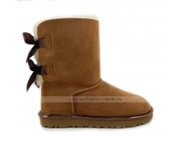 UGG BAILEY BOW II METALLIC CHESTNUT