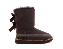 UGG BAILEY BOW II METALLIC CHOCOLATE
