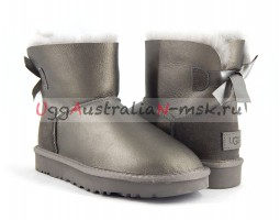 UGG BAILEY BOW II MINI METALLIC PEWTER