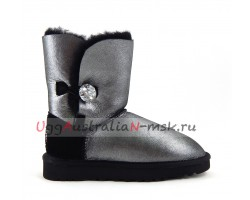 UGG BAILEY BUTTON II GLITTER BLACK