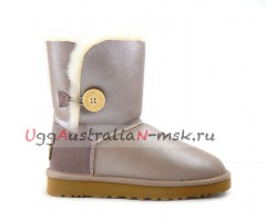 UGG BAILEY BUTTON II METALLIC AZURE