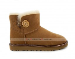 UGG BAILEY BUTTON MINI II METALLIC CHESTNUT