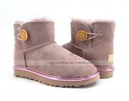 UGG BAILEY BUTTON MINI II METALLIC DUSK