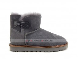 UGG BAILEY BUTTON MINI II METALLIC GREY