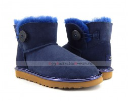 UGG BAILEY BUTTON MINI II METALLIC NAVY
