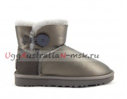 UGG BAILEY BUTTON MINI II METALLIC PEWTER