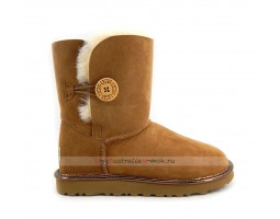 UGG BAILEY BUTTON SHORT II METALLIC CHESTNUT