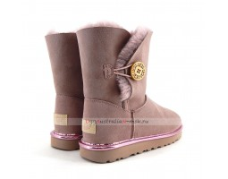 UGG BAILEY BUTTON SHORT II METALLIC DUSK
