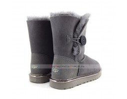 UGG BAILEY BUTTON SHORT II METALLIC GREY