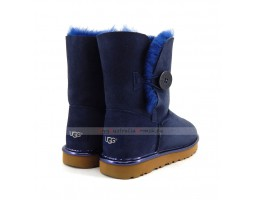 UGG BAILEY BUTTON SHORT II METALLIC NAVY