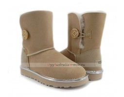 UGG BAILEY BUTTON SHORT II METALLIC SAND