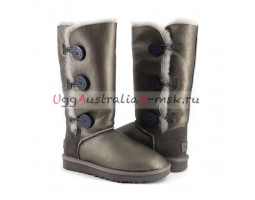 UGG BAILEY BUTTON TRIPLET II METALLIС PEWTER