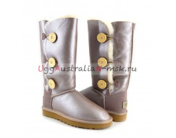 UGG BAILEY BUTTON TRIPLET II METALLIС AZURE