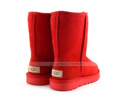 UGG CLASSIC II SHORT RED