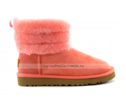 UGG ClASSIC MINI FLUFF QUILTED BOOT ROSE