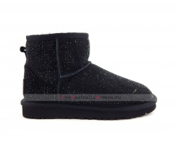 UGG CLASSIC MINI MIDDLE CYLINDER BLACK