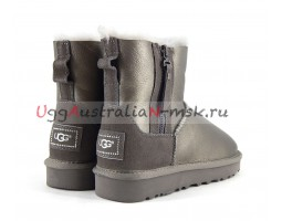 UGG DOUBLE ZIP MINI II METALLIC PEWTER