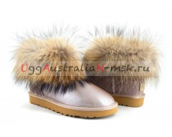 UGG FOX FUR II METALLIC AZURE