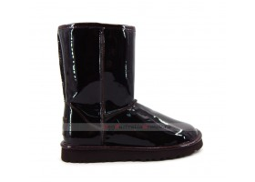 UGG & JIMMY CHOO CLASSIC SHORT PATENT II - CHOCOLATE