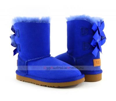 UGG KIDS BAILEY BOW II ELECTRIC BLUE