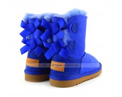 UGG KIDS BAILEY BOW II ELECTRIC BLUE