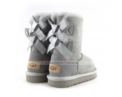 UGG KIDS BAILEY BOW II GREY VIOLET