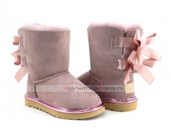 UGG KIDS BAILEY BOW II METALLIC DUSK