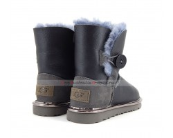 UGG KIDS BAILEY BUTTON II METALLIC GREY